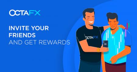 Promoção Convide um Amigo da OctaFX - 1 USD por 1 lote padrão
