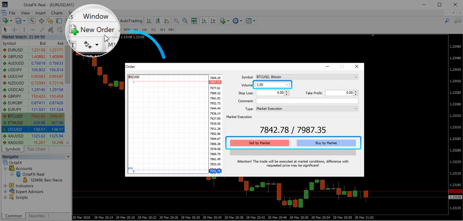 How to Start Forex Trading on OctaFX MT4/ MT5 Desktop