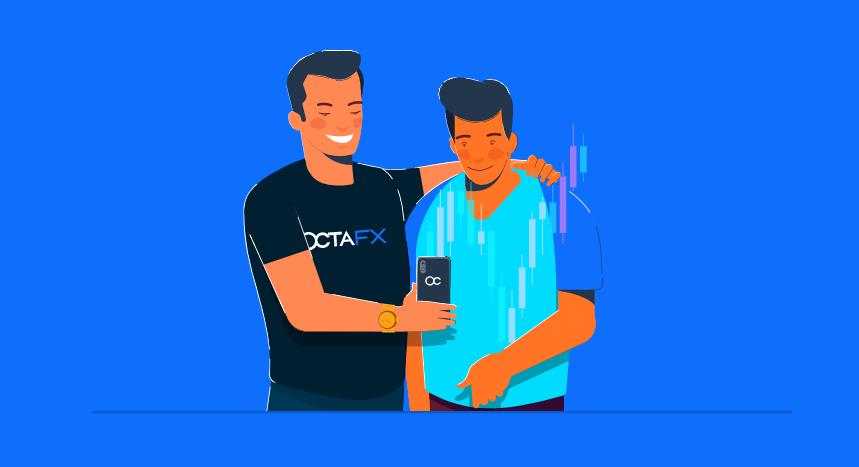 OctaFX Invite a Friend Promotion - 1 USD per 1 standard lot